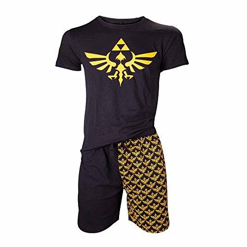 nintendo-legend-of-zelda-shortama-nightwear-set-medium-black-gold
