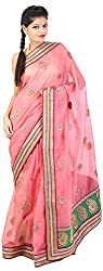 Mili Women's Silk Saree - (Pink, MS-11)