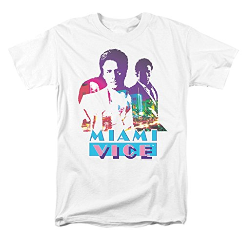 Miami Vice Men's Crockett And Tubbs T-shirt White - X-Large