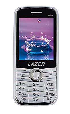 Lazer Heavy Battery Dual Sim Camera Mobile in Black Color