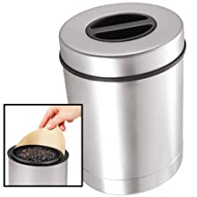 Oggi Stainless Steel Airtight Coffee Canister with Coffee Filter Compartment