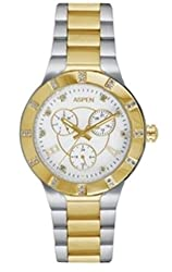 Aspen Analog Silver Dial Womens Watch - AP1750