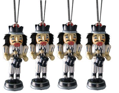 New York Yankees 4 Pack Nutcracker Christmas Ornaments