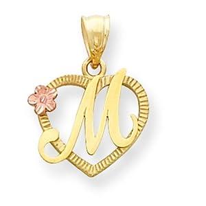 M Letter In Heart Initial Letter M Heart