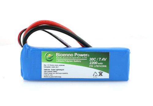 Bioenno Power SUPER Lightweight 30C, 7.4V, 2200 mAh LiPo Battery for RC Models