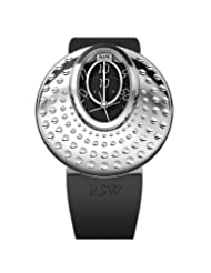 RSW Women's 7130.BS.R1.1.00 Moonflower Stainless-Steel Dot Engraved Automatic Black Rubber Watch