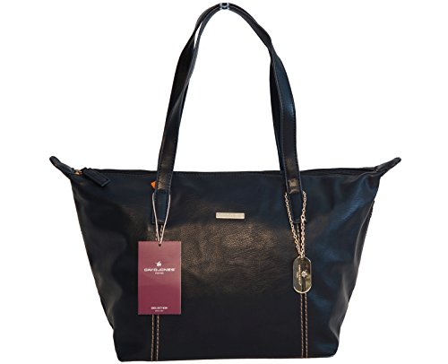 Borsa donna David Jones in ecopelle modello shopper - nera