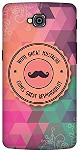 The Racoon Grip With Great Mustache hard plastic printed back case/cover for LG G Pro Lite