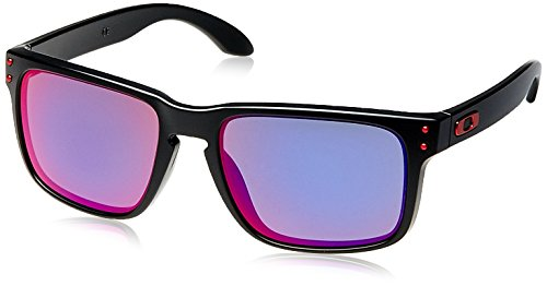 Oakley MOD. 9102, Occhiale da Sole, Matte Black/Positive Red Iridium, Taglia Unica