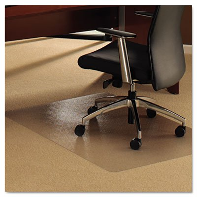 Cleartex UltiMat Polycarbonate Chair Mat for Plush Pile Carpets - Over 1/2 Inch Thick, 0.11 Inch Gauge, Clear 47 x 35 Inches, (118927ER)