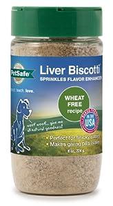 PetSafe Liver Biscotti Dog Treats, Wheat/Egg Free Recipe, Sprinkles 8-Ounce Jar