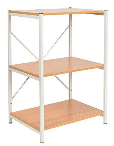 ts-ideen-Standregal-Hochregal-MDF-Eisengestell-Wei-Regal-Holzoptik-Kchen-Regal-Mikrowellenhalter-84-x-58-cm