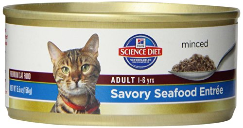 Hill'S Science Diet Adult Optimal Care Savory Seafood Entree Minced Cat Food, 5.5-Ounce Can, 24-Pack