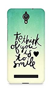 AMEZ to think of you is to smile Back Cover For Asus Zenfone C ZC451CG