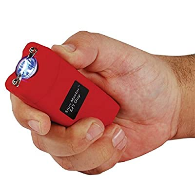 NEW 12,000,000 volts Stun Master® L'il Guy Compact Red Flashlight Stun Gun Combo with Nylon Holster