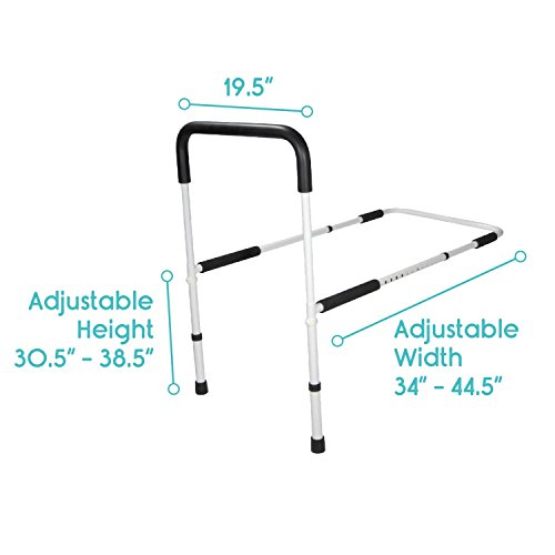 Bed Rail By Vive Best Bed Assist Bar For Adults Seniors