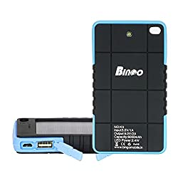 Bingo K3 Water and Dust Proof Solar Power Bank Capacity Of 6000mah With LED Torch Light
