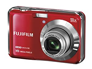 Fujifilm FinePix AX650 Digital Camera - Red (16 MP, 5x Optical Zoom) 2.7 inch LCD (discontinued by manufacturer)