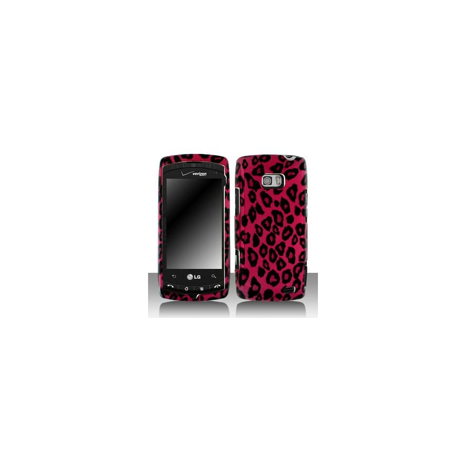Premium   LG VS740/Ally Hot Pink/Black Leopard Cover   Faceplate   Case   Snap On   Perfect Fit Guaranteed