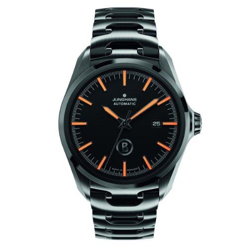 Junghans Uhren Bogner Willy Automatic 027/4276.44 - Reloj para hombres, correa de acero inoxidable chapado color negro