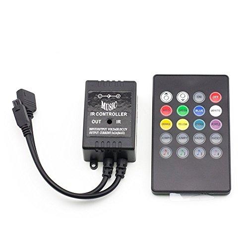 Etopxizu 20Key Infrared Music Controller Ir Dimmer Sound Sense Remote Controller For Rgb Flexible Led Strip