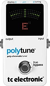 TC Electronic PolyTune Poly-Chromatic Tru-Bypass Pedal Tuner