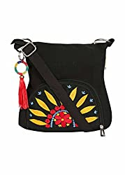 pick pocket Womens Sling Bag (Black) (Slsunflower744)
