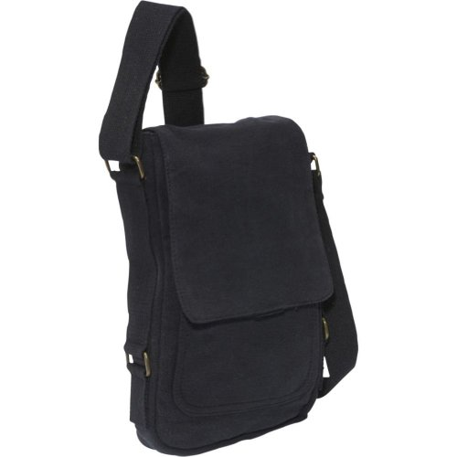 Rothco Vintage Canvas iPad Bag (One Size/Black)