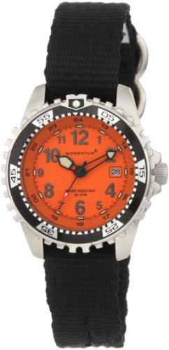 Momentum 1M-DV01O8B - Reloj para mujeres, correa de nailon color negro