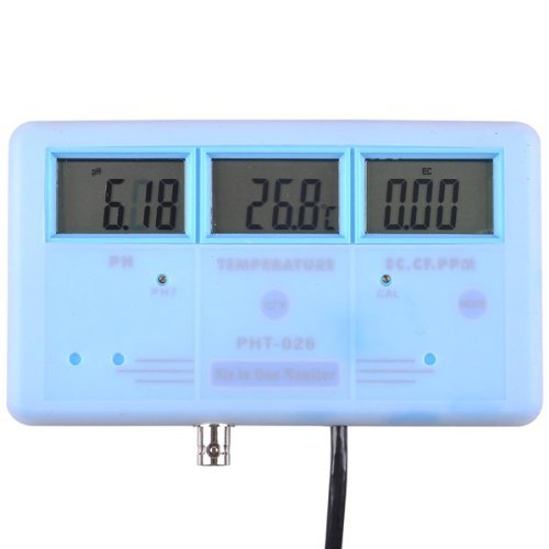 6 in 1 Water testing Meter - ph ppm temp tds ec cf by Generic