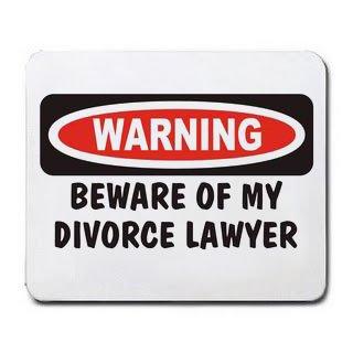 WARNING BEWARE OF MY DIVORCE LAWYER Mousepad