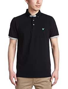 Lyle and Scott Green Eagle Men's Tipped Polo - Black, Small