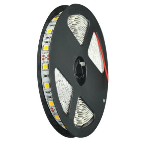 Ggl Superbright 5050 Smd 300-Led Red Flexible Pcb Led Strip Light Flash Lamp Ribbon With Self-Adhesive Tape Backing 16.4Ft 5M Per Reel - Ideal For Various Residential Industrial Commercial Decorative Lighting Applications