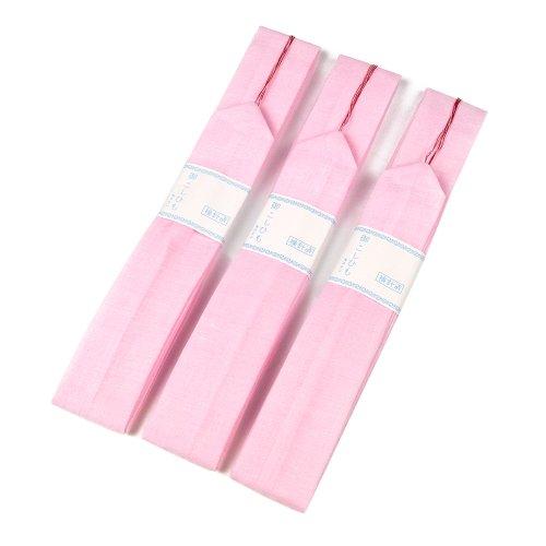 (キョウエツ) KYOETSU 腰紐 モスリン 白/ピンク 着付け紐 3本セット (ピンク)