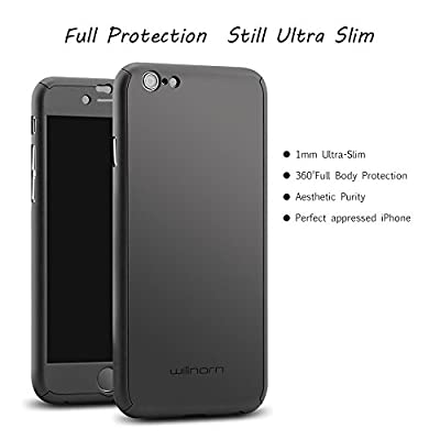 "iPhone 6 Case, Willnorn® [Norn One] Ultra Thin Full Body Coverage Protection Hard Slim iPhone 6 Case with Tempered Glass Screen Protector for Apple iPhone 6 4.7"" from Willnorn"