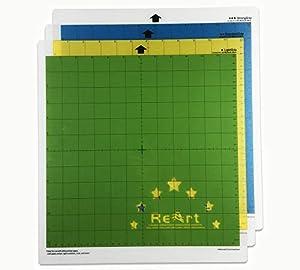 ReArt Cutting Mat Variety 12x12 for Cricut - 3 Pack Stronggrip, Standardgrip, Lightgrip Adhesive Cut Mat Replacement Work with Cricut Explore One/Air/Air 2/Maker (Tamaño: 12'' x 12'')