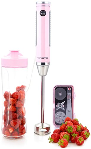Vremi Hand Blender and Immersion Mixer with 8 Speeds and 350 Watt Motor - includes 4 Interchangeable Stainless Steel Blades and 20 Ounce Travel Bottle (Hand Blender Masher compare prices)
