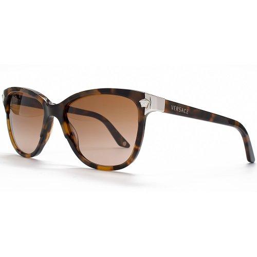 Versace Wayfarer Style Sunglasses in Havana VE4228 944 13 56 56 Brown Gradient