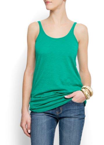Mango Women's Cotton T-shirt, Xs, Green