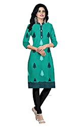 Riddhi Dresses Women's Cotton Unstitched kurti (Riddhi Dresses 47_Multi Coloured_Free Size)