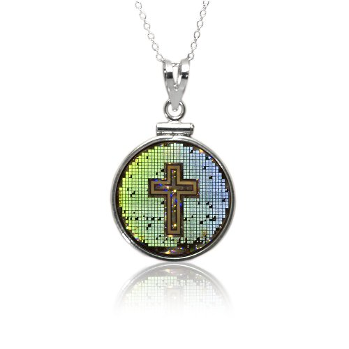 "Holy Bible, Classic Sterling Sliver Pendant & 18"" Sterling Silver Chain"