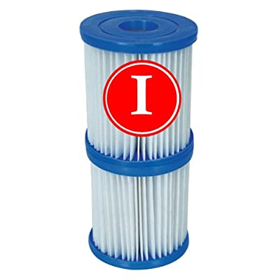 Bestway 3.1 x 3.5-inch Size I Filter Cartridge Twin Pack #58093