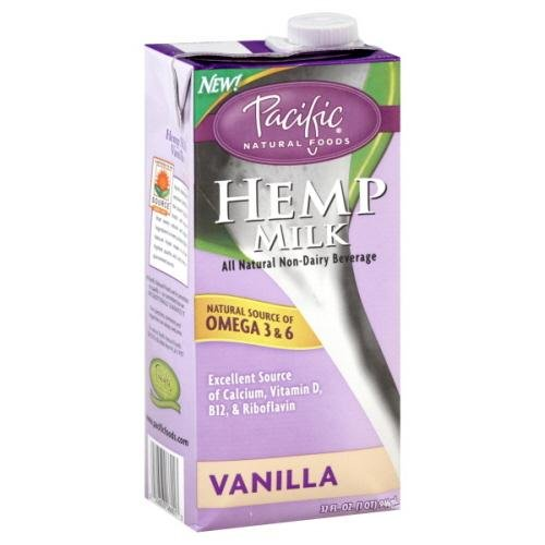 Pacific Natural Foods Hemp Milk, Vanilla, 32-Ounce Containers (Pack Of 12)