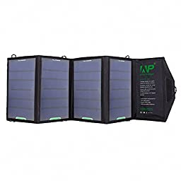 AP 16W Waterproof Folding Solar Panel Power USB Charger For Iphone, Ipad Etc.