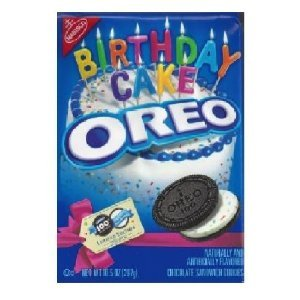 Nabisco OREO COOKIE 100TH Birthday Cake Confetti Sandwich Cookies (Pack of 4)