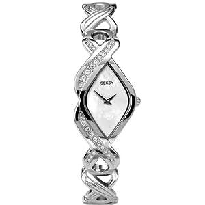 Seksy de Sekonda - Montre Femme - Twist étincelle - Swarovski Cristal - Bracelet en Acier - 4566