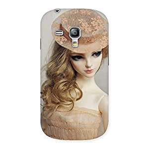 Enticing Royal Doll Multicolor Back Case Cover for Galaxy S3 Mini
