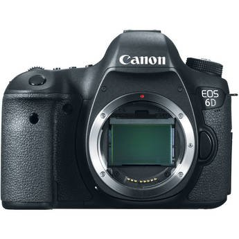 Canon EOS 6D 20.1 MP CMOS Digital SLR Camera with 3.0-Inch LCD (Body Only)