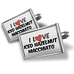 ... Cufflinks I Love Iced Hazelnut Macchiato Coffee - Neonblond: Jewelry