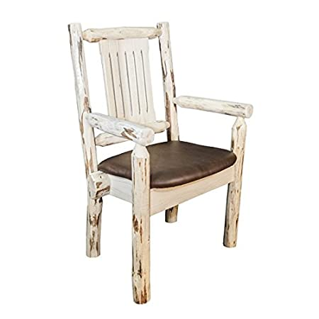 Montana Captain's Chair with Upholstered Saddle Pattern Seat